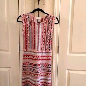 Goodnight  Macaroon Pink Pattern  Knit Dress